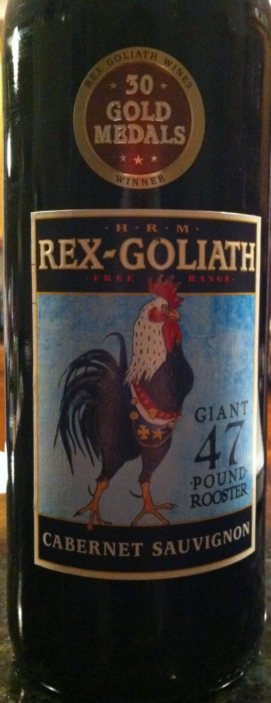 wine label with Rooster